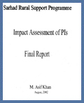 Impact Assessment of PIs- SRSP: August 2002