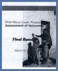 PPAF Microcredit finance- Assessment of Outcomes: March 2002