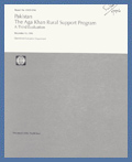 Pakistan - The Aga Khan Rural Support Program - A third Evaluation: 1995