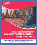 Community-Based Paralegal Model at a Glance