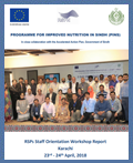 Workshop: Implementing RSPs Workshop Orientation - April 2018