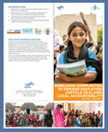 Brochure-Mobilising Communities to demand education and Local accountability