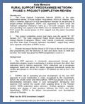 RSPN Phase-II PCR (Aide Memoire)- DFID